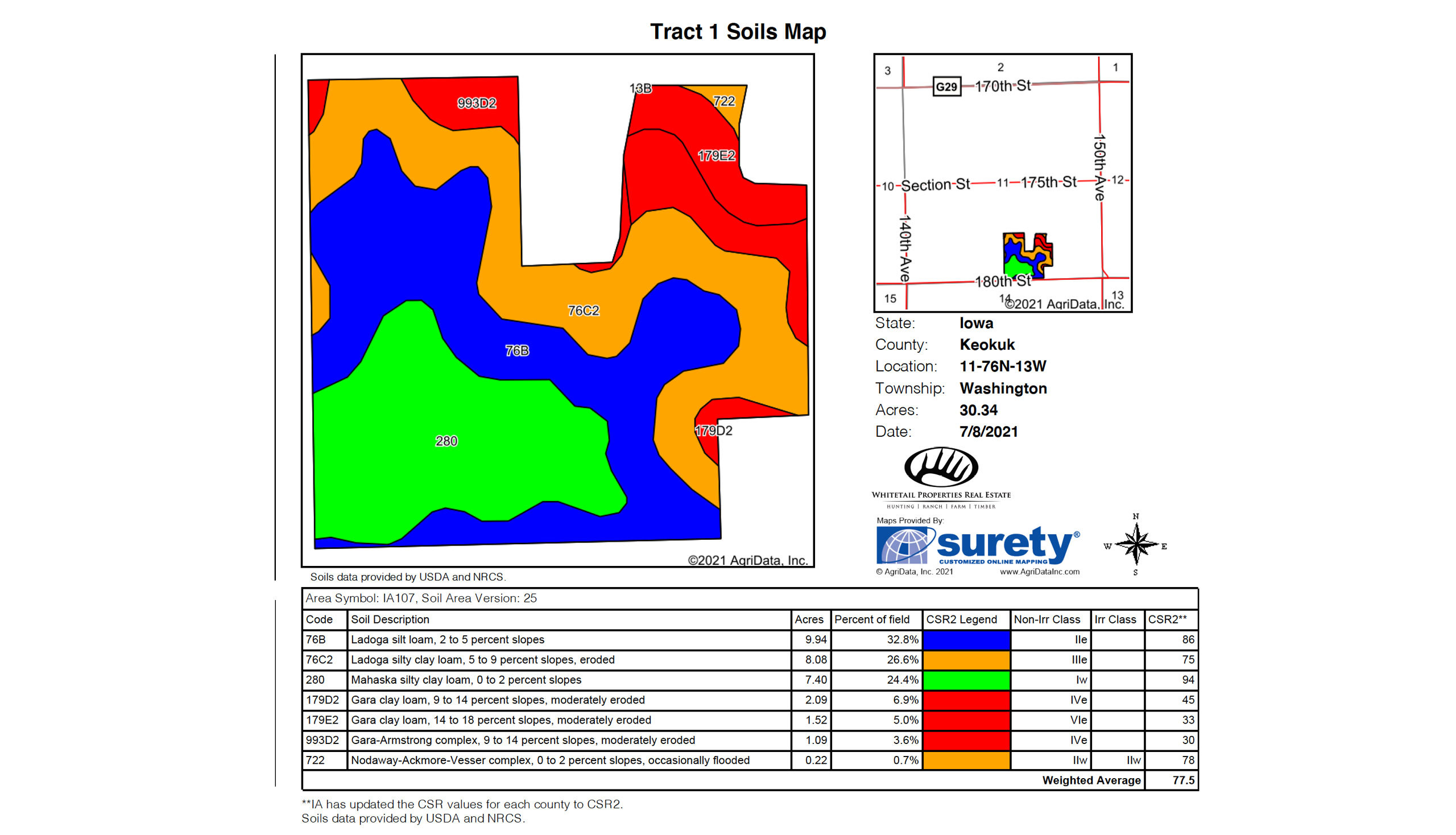 Tract1 Soil Map