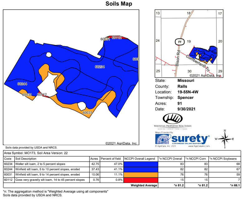 Tract 6 Soil Map